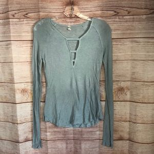 Free People Deep V Layering Knit Pullover